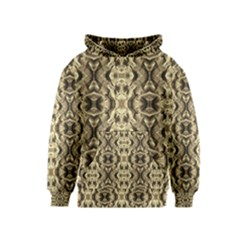 Gold Fabric Pattern Design Kid s Pullover Hoodies by Costasonlineshop
