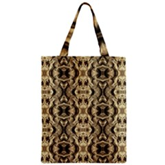 Gold Fabric Pattern Design Zipper Classic Tote Bags by Costasonlineshop
