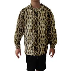Gold Fabric Pattern Design Hooded Wind Breaker (kids) by Costasonlineshop