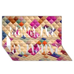 Mosaic & Co 01a  Congrats Graduate 3d Greeting Card (8x4)  by MoreColorsinLife