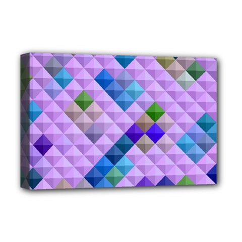 Mosaic & Co 01b Deluxe Canvas 18  X 12   by MoreColorsinLife