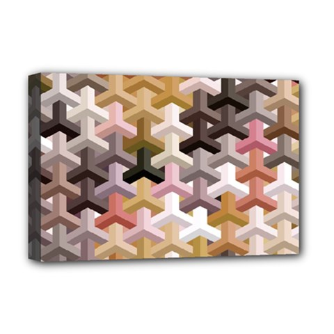 Mosaic & Co 02b Deluxe Canvas 18  X 12   by MoreColorsinLife