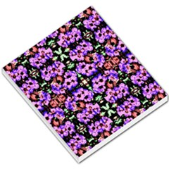 Purple Green Flowers With Green Small Memo Pads by Costasonlineshop