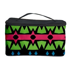 Shapes on a black background pattern Cosmetic Storage Case by LalyLauraFLM
