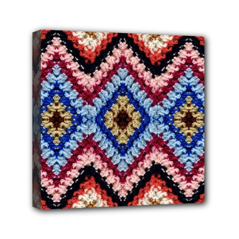 Colorful Diamond Crochet Mini Canvas 6  X 6  by Costasonlineshop