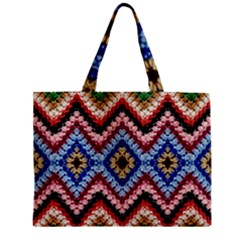 Colorful Diamond Crochet Zipper Tiny Tote Bags by Costasonlineshop