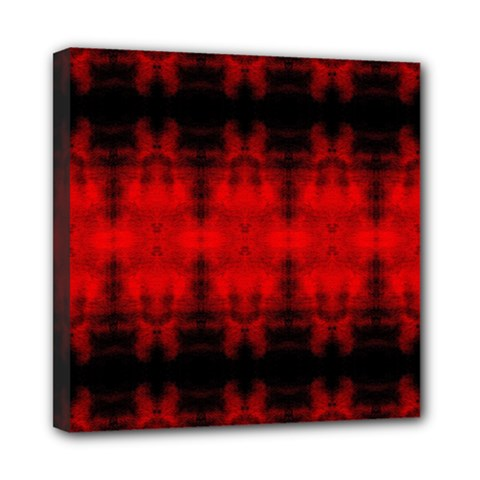 Red Black Gothic Pattern Mini Canvas 8  X 8  by Costasonlineshop