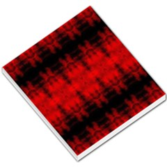Red Black Gothic Pattern Small Memo Pads by Costasonlineshop