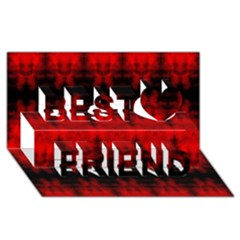 Red Black Gothic Pattern Best Friends 3d Greeting Card (8x4)  by Costasonlineshop