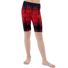 Red Black Gothic Pattern Kid s Mid Length Swim Shorts by Costasonlineshop