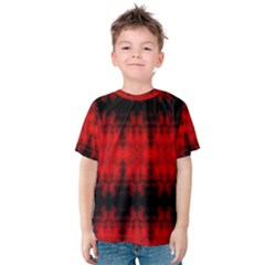 Red Black Gothic Pattern Kid s Cotton Tee by Costasonlineshop