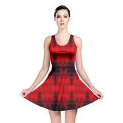 Red Black Gothic Pattern Reversible Skater Dresses by Costasonlineshop