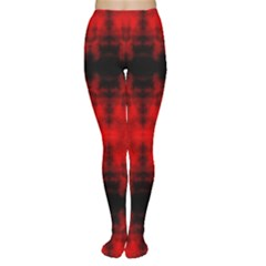 Red Black Gothic Pattern Women s Tights by Costasonlineshop