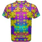 Outside the curtain it is peace florals and love Men s Cotton Tee