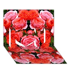 Beautiful Red Roses I Love You 3d Greeting Card (7x5)  by Costasonlineshop
