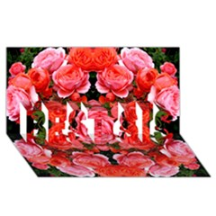 Beautiful Red Roses Best Sis 3d Greeting Card (8x4)  by Costasonlineshop