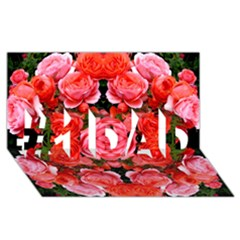 Beautiful Red Roses #1 Dad 3d Greeting Card (8x4)  by Costasonlineshop