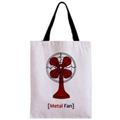 Metal Fan Zipper Classic Tote Bags by waywardmuse
