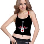 Flying Heart Guitar Spaghetti Strap Bra Top