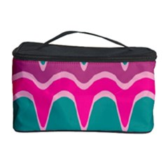 Waves Pattern Cosmetic Storage Case by LalyLauraFLM