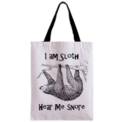 Sloth Zipper Classic Tote Bags by waywardmuse