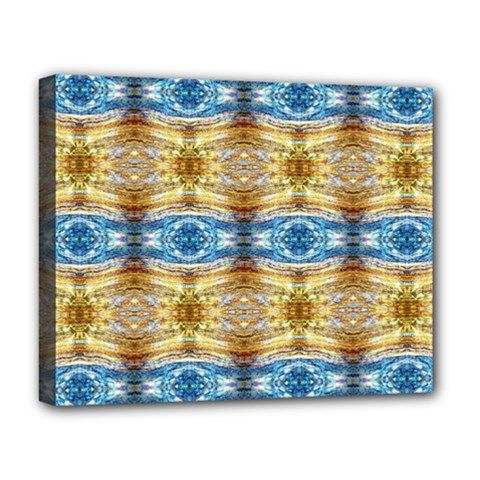 Gold And Blue Elegant Pattern Deluxe Canvas 20  X 16   by Costasonlineshop