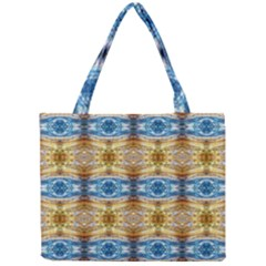 Gold And Blue Elegant Pattern Tiny Tote Bags by Costasonlineshop
