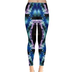Blue, Light Blue, Metallic Diamond Pattern Women s Leggings by Costasonlineshop