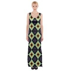 Pixelated Pattern Maxi Thigh Split Dress by LalyLauraFLM