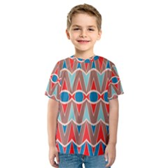 Rhombus And Ovals Chains Kid s Sport Mesh Tee