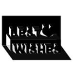 Black Gothic Best Wish 3D Greeting Card (8x4)