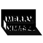 Black Gothic Merry Xmas 3D Greeting Card (8x4)