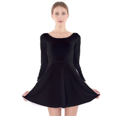 Black Gothic Long Sleeve Velvet Skater Dress by Costasonlineshop