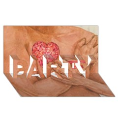 Embrace Love  Party 3d Greeting Card (8x4)  by KentChua