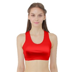 Trendy Red  Women s Sports Bra with Border by Costasonlineshop