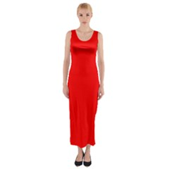 Trendy Red  Fitted Maxi Dress by Costasonlineshop