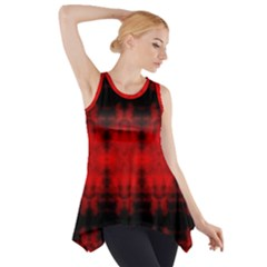 Red Black Gothic Pattern Side Drop Tank Tunic by Costasonlineshop