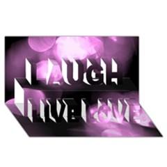 Purple Circles No  2 Laugh Live Love 3d Greeting Card (8x4)  by timelessartoncanvas