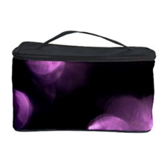 Purple Circles No  2 Cosmetic Storage Cases by timelessartoncanvas