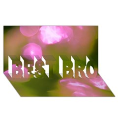 Pink And Green Circles Best Bro 3d Greeting Card (8x4)  by timelessartoncanvas