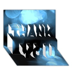 Blue Circles Thank You 3d Greeting Card (7x5)  by timelessartoncanvas