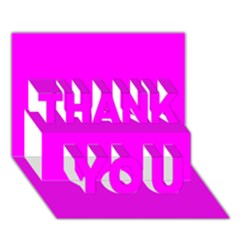 Trendy Purple  THANK YOU 3D Greeting Card (7x5)  by Costasonlineshop