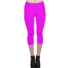 Trendy Purple  Capri Leggings by Costasonlineshop