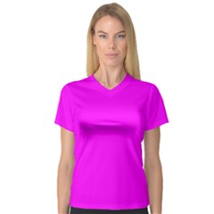 Trendy Purple  Women s V-Neck Sport Mesh Tee by Costasonlineshop