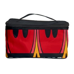 Rhombus ovals and stripes Cosmetic Storage Case by LalyLauraFLM