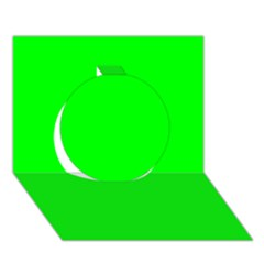 Cool Green Circle 3d Greeting Card (7x5)  by Costasonlineshop