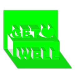 Cool Green Get Well 3d Greeting Card (7x5)  by Costasonlineshop