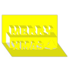 Beautiful Yellow Merry Xmas 3d Greeting Card (8x4)  by Costasonlineshop