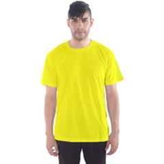 Beautiful Yellow Men s Sport Mesh Tee by Costasonlineshop