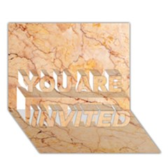 Stone Floor Marble You Are Invited 3d Greeting Card (7x5)  by essentialimage